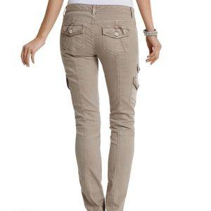 White House Black Market Jeans - WHBM - The Mod (Slim) Blanc Latte Cargo Jean